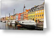 Nyhavn Harbour In Copenhagen Greeting Card