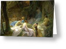 Nymphs Listening To The Songs Of Orpheus Greeting Card