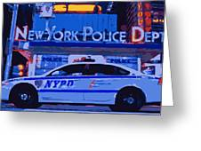 Nypd Color 16 Greeting Card