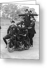 Nypd Motorcycle Stunts Greeting Card
