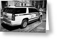 nypd police bomb squad gmc yukon xl vehicle New York City USA Greeting Card