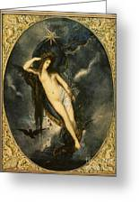 Nyx Night Goddess Greeting Card