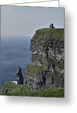 O Brien's Tower At The Cliffs Of Moher Ireland Greeting Card