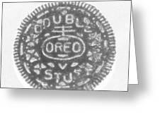 O R E O In Black Negative Greeting Card