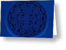 O R E O In Blue Greeting Card