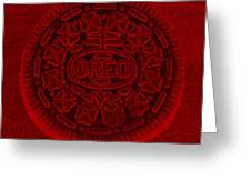 O R E O In Red Greeting Card