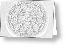 O R E O In White Greeting Card