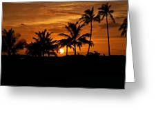 Oahu At Sunset Greeting Card