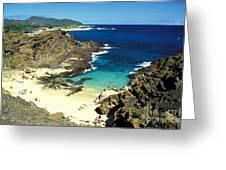 Oahu, Beach Goers Greeting Card