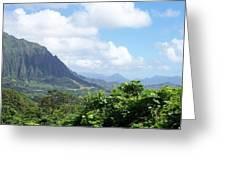 Oahu Mountain Greeting Card