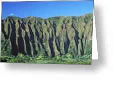 Oahu Rugged And Lush Greeting Card