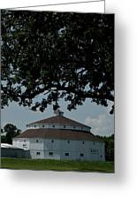 Oak And Round Barn Greeting Card