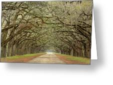 Oak Avenue Greeting Card