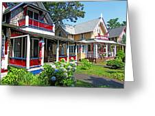 Oak Bluffs Gingerbread Cottages 1 Greeting Card
