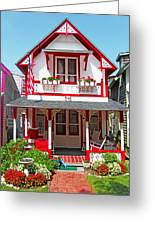 Oak Bluffs Gingerbread Cottages 2 Greeting Card
