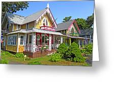 Oak Bluffs Gingerbread Cottages 3 Greeting Card