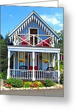 Oak Bluffs Gingerbread Cottages 4 Greeting Card