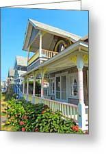 Oak Bluffs Gingerbread Cottages 5 Greeting Card
