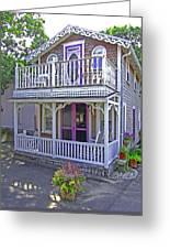 Oak Bluffs Gingerbread Cottages 7 Greeting Card