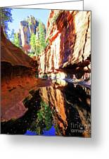 Oak Creek Canyon 1 Greeting Card