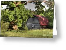Oak Framed Barn Greeting Card by Benanne Stiens