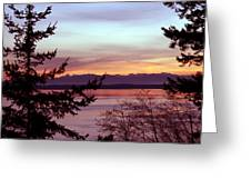 Oak Harbor Sunset 1016 Greeting Card