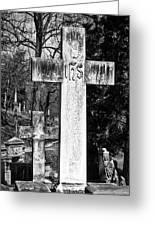Oak Hill Cemetery Crosses #2 Greeting Card