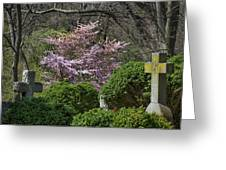 Oak Hill Cemetery Crosses Greeting Card