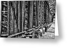 Oak Hill Cemetery Fence Greeting Card