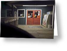 Oak Island Nc Pier Greeting Card