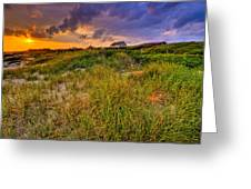 Oak Island Sunset Greeting Card