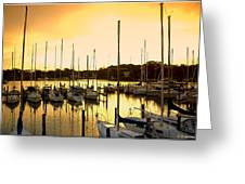 Oak Point Harbor Greeting Card
