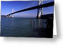 Oakland Bay Bridge 1985 Greeting Card