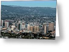 Oakland California Skyline Greeting Card