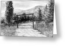 Oakley Ranch Entrance Greeting Card
