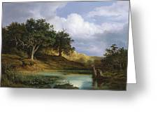 Oaks Beside The Water 1832 By Christian E. B. Morgenstern Greeting Card