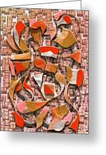 Oars And Rudders -- Orange Greeting Card