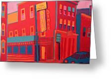 Oasis Diner Burlington Vt Greeting Card