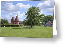 Oast House In Kent - England Greeting Card