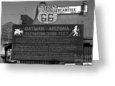 Oatman Arizona Greeting Card