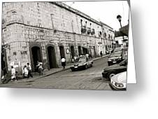 Oaxaca Escena De La Calle Greeting Card