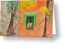 Oaxaca Mexico Church Colors Greeting Card