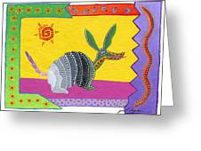 Oaxacan Armadillo Greeting Card