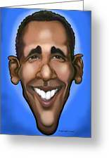 Obama Caricature Greeting Card