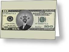 Obama Dollar Greeting Card
