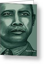 Obama In Bronze Greeting Card
