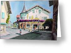 Oberammergau Street Greeting Card