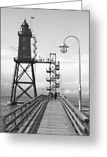 Obereversand Lighthouse - North Sea - Germany Greeting Card