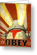 Obey Version 2 Greeting Card by Michael Knight