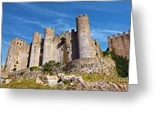 Obidos Castle Greeting Card by Carlos Caetano